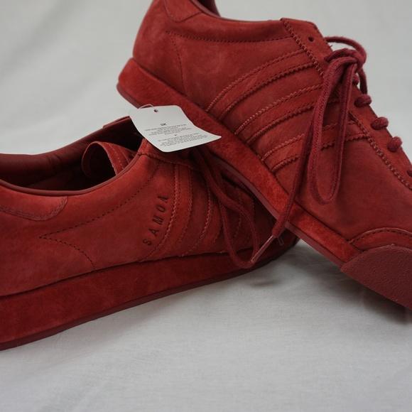 le adidas samoa vintage red suede poshmark